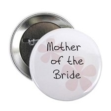 Pink Flowers Mother of Bride Button