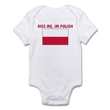 KISS ME IM POLISH Infant Bodysuit