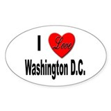 I Love Washington D.C. Oval Decal