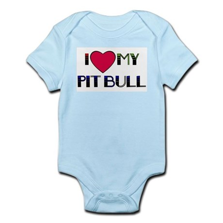 LOVE my pit bull Infant Creeper
