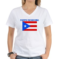 PUERTO RICAN KING Women's V-Neck T-Shirt