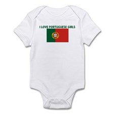 I LOVE PORTUGUESE GIRLS Infant Bodysuit