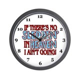 No Sleddin' in Heaven Wall Clock