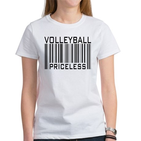Volleyball Priceless Bar code Women's T-Shirt