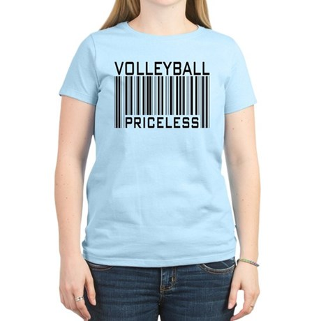 Volleyball Priceless Bar code Women's Light T-Shir