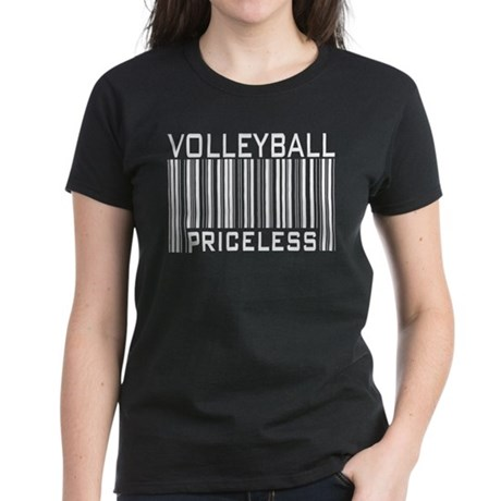Volleyball Priceless Bar code Women's Dark T-Shirt