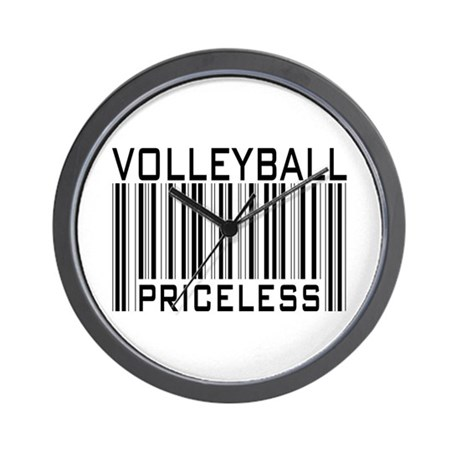Volleyball Priceless Bar code Wall Clock
