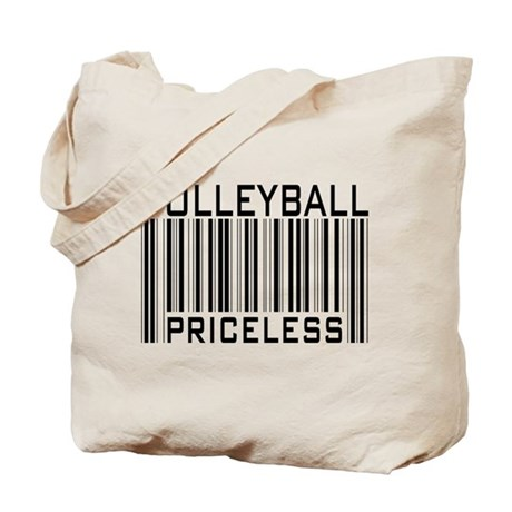 Volleyball Priceless Bar code Tote Bag