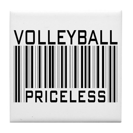 Volleyball Priceless Bar code Tile Coaster