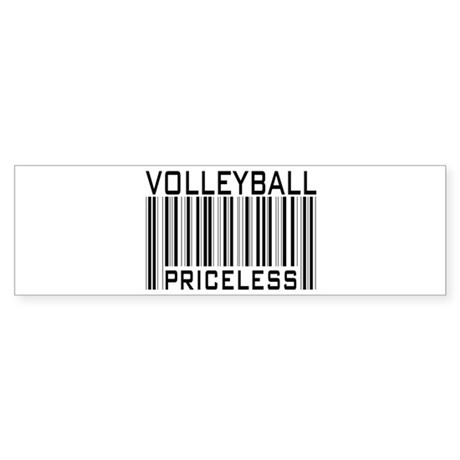 Volleyball Priceless Bar code Bumper Sticker