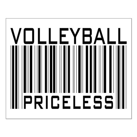 Volleyball Priceless Bar code Small Poster