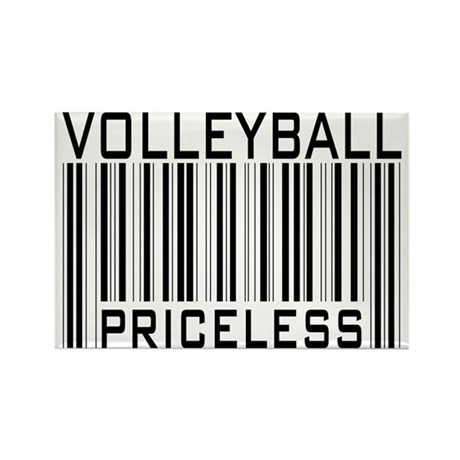 Volleyball Priceless Bar code Rectangle Magnet (10