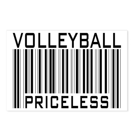 Volleyball Priceless Bar code Postcards (Package o