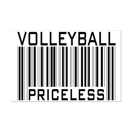 Volleyball Priceless Bar code Mini Poster Print