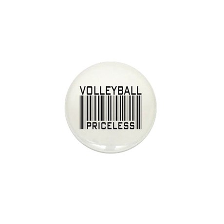 Volleyball Priceless Bar code Mini Button