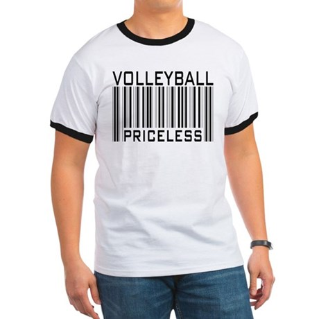 Volleyball Priceless Bar code Ringer T