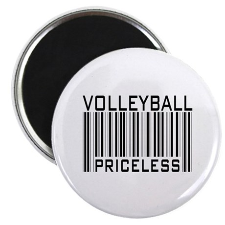 "Volleyball Priceless Bar code 2.25"" Magnet (100 pa"