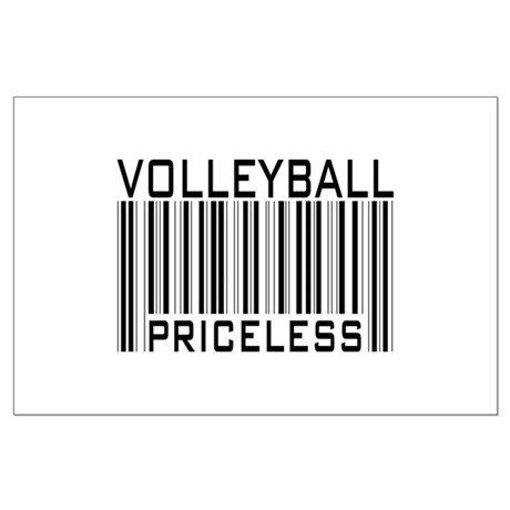 Volleyball Priceless Bar code Large Poster