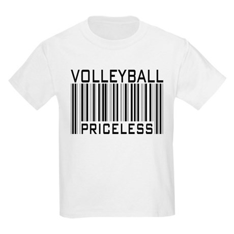 Volleyball Priceless Bar code Kids Light T-Shirt