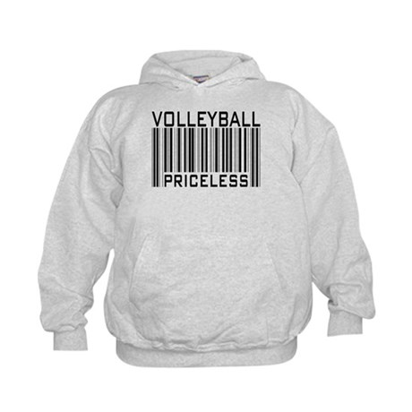 Volleyball Priceless Bar code Kids Hoodie
