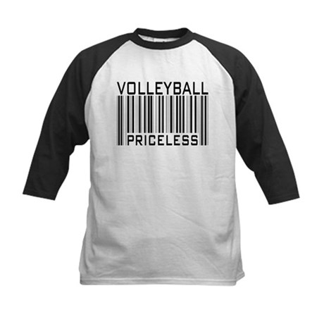 Volleyball Priceless Bar code Kids Baseball Jersey