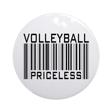 Volleyball Priceless Bar code Ornament (Round)