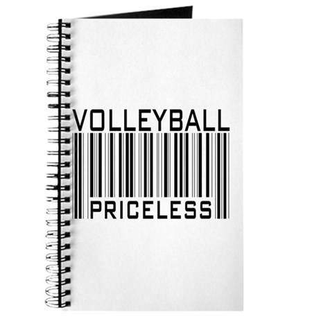 Volleyball Priceless Bar code Journal