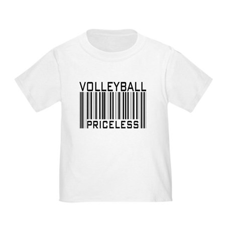 Volleyball Priceless Bar code Toddler T-Shi