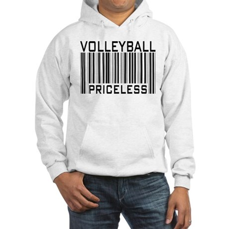 Volleyball Priceless Bar code Hooded Sweatshirt