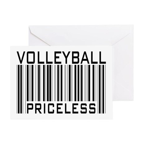 Volleyball Priceless Bar code Greeting Card