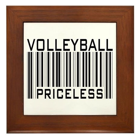 Volleyball Priceless Bar code Framed Tile