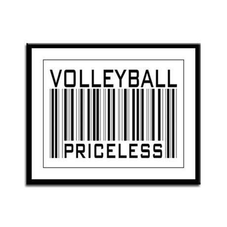 Volleyball Priceless Bar code Framed Panel Print