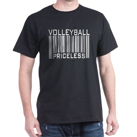 Volleyball Priceless Bar code Dark T-Shirt