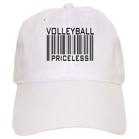 Volleyball Priceless Bar code Cap