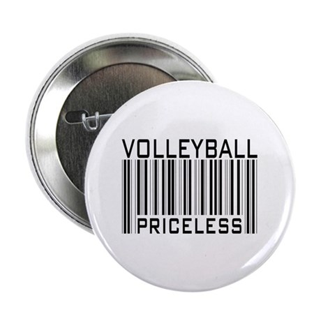 "Volleyball Priceless Bar code 2.25"" Button (10 pac"