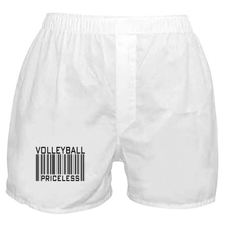 Volleyball Priceless Bar code Boxer Shorts