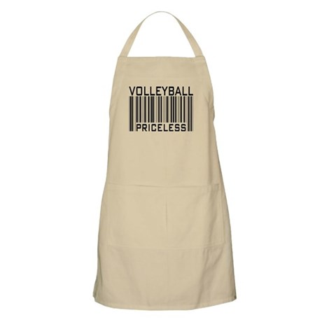 Volleyball Priceless Bar code BBQ Apron