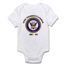 USS Pennsylvania BB 38 Infant Bodysuit