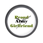 Proud Army Girlfriend Wall Clock
