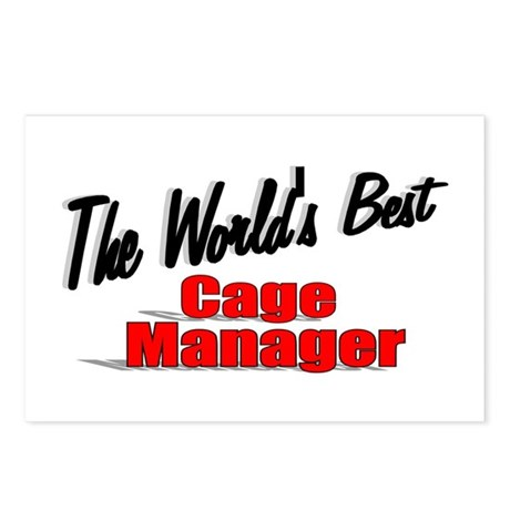 """The World's Best Cage Manager"" Postcards (Package"