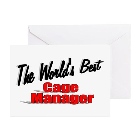 """The World's Best Cage Manager"" Greeting Cards (Pk"