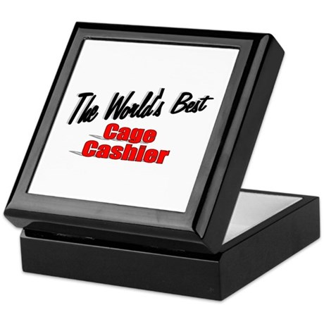 """The World's Best Cage Cashier"" Keepsake Box"