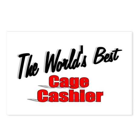 """The World's Best Cage Cashier"" Postcards (Package"