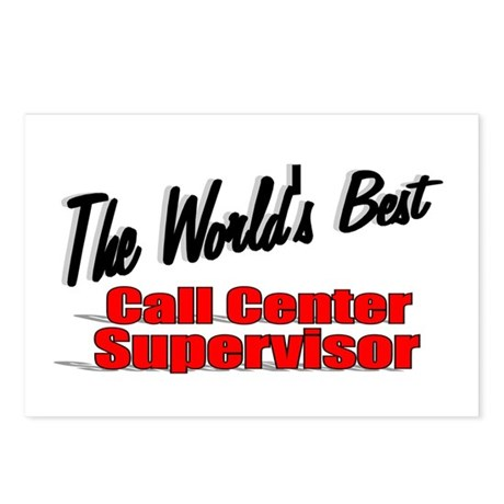 """The World's Best Call Center Supervisor"" Postcard"