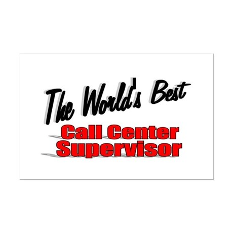 """The World's Best Call Center Supervisor"" Mini Pos"