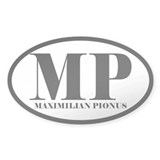 MP Abbreviated Maximilian Pionus Oval Decal