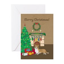 Welsh Corgi Merry Christmas Greeting Cards (Pk of