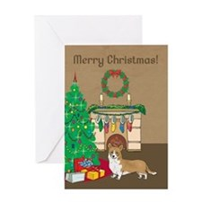 Welsh Corgi Merry Christmas Greeting Card
