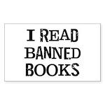 I Read Books Sticker (Rectangle)