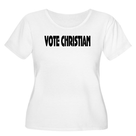 Vote Christian Women's Plus Size Scoop Neck T-Shir